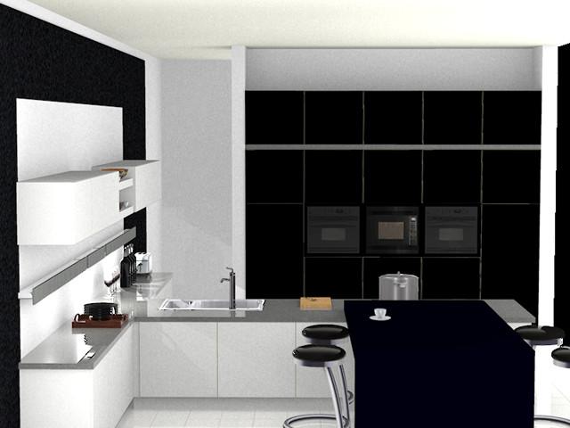Kitchen 3D Rendering contemporary-rendering