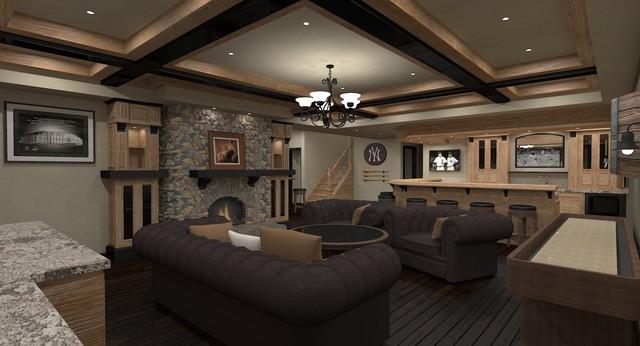 Basement Sports Bar Designs Hierarchy development & design