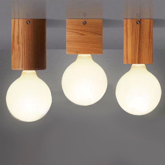 Modern Wood Recessed Lighting or Wall sconce or Table Lamp Farmhouse Wall