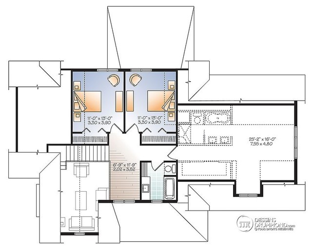 Maison de style craftsman champ tre no 3507 v3 par for Application dessin plan maison