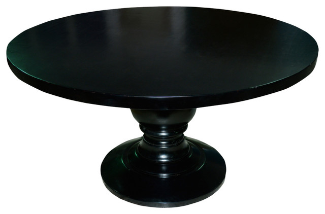Pedestal solid wood round dining table traditional dining tables