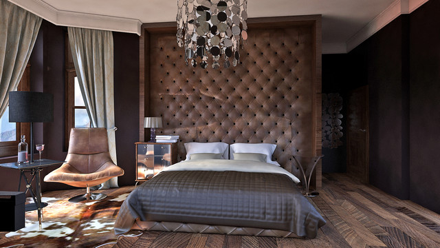 Luxury master bedroom design contemporary rendering for Extreme bedroom designs