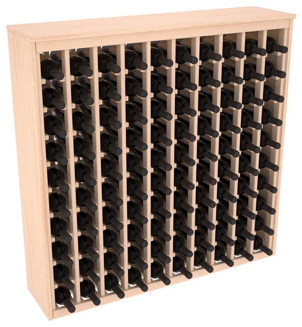 100 Bottle Deluxe Wine Rack in Ponderosa Pine, Satin Finish contemporary-wine-racks