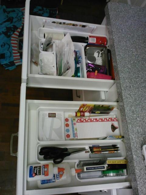 Junk drawers organized contemporary kitchen for Kitchen junk drawer