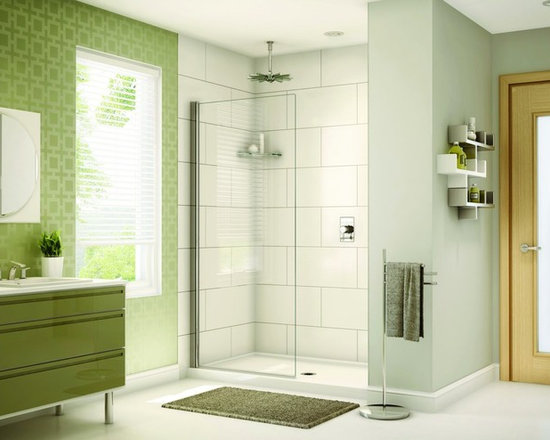 http://www.exotichomeexpo.com/fleurco-banyo-sienna-solo-shield-34-x-75-frameless - In-Line shower or tub configurations