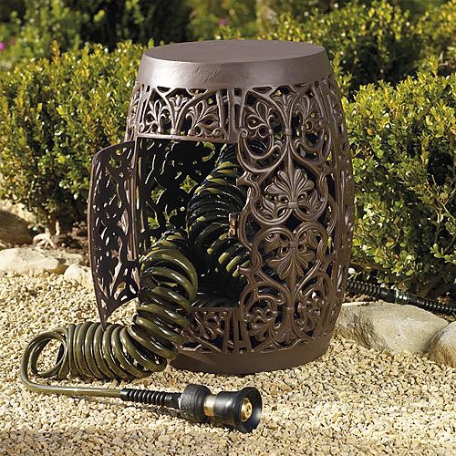 Hose Storage Garden Stool - Frontgate - Traditional - Outdoor Decor