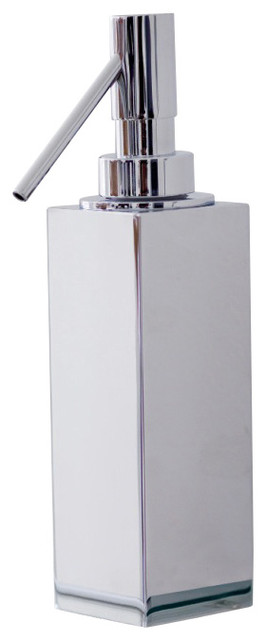 WS Bath Collections Metric Soap Dispenser in Brushed Stainless Steel contemporary-bath-and-spa-accessories