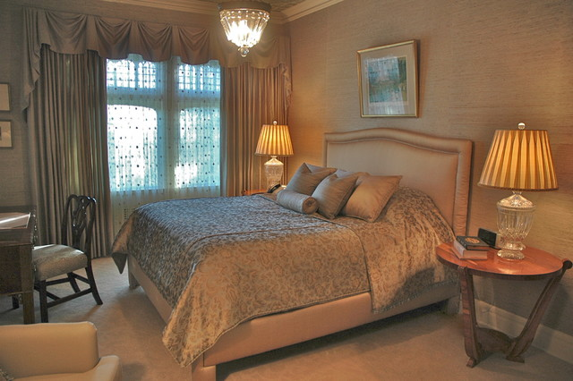 taupe and mint bedroom traditional bedroom los angeles by
