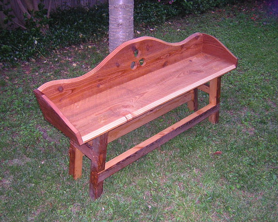 """Accessories, furniture pieces, etc. - This object is also referred to as a """"parsons bench"""" or """"entry bench"""" or """" foyer bench"""".  As seen, built from salvage lumber, this object will cost in the $700 range."""