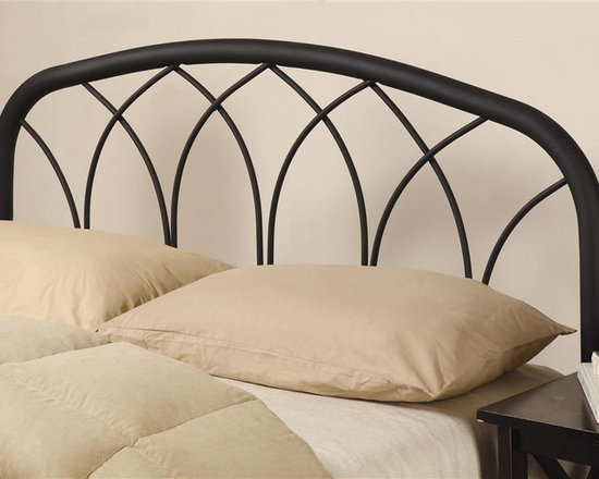 Coaster - Modern Metal Full Headboard - Unique weave design. Can be used with queen bed frame. Made from metal. Black color. 61 in. W x 55 in. H. WarrantyThis sleek modern design is a fantastic headboard option to add to any bed in your home. This headboard is a smart choice for your home.