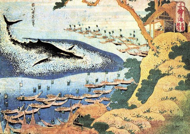 Ocean Landscape And Whale by Katsushika Hokusai, art print ...