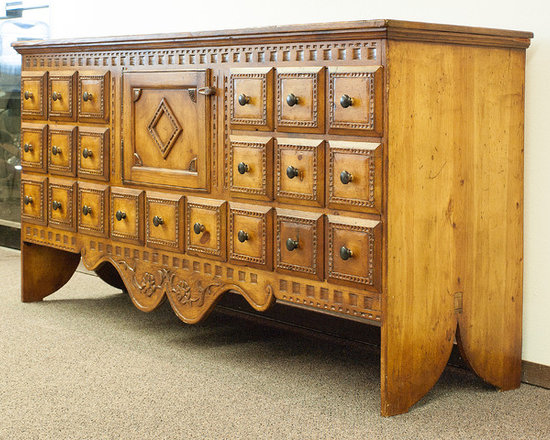 """Santa Fe Faux Apothecary Cabinet - """"Territorial House"""""""