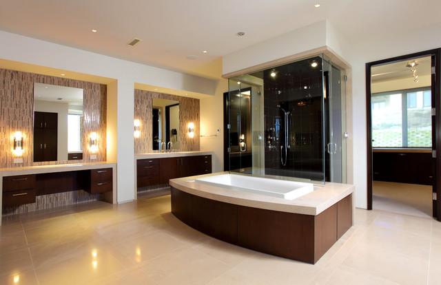 Dana point bachelor pad contemporary bathroom orange for Bachelor bathroom ideas