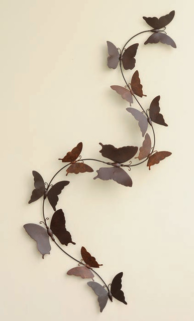 Butterflies String Wall Art eclectic garden sculptures