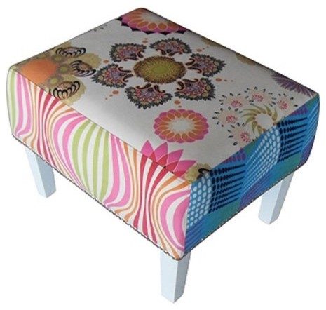 100 Essentials Colorful Ottoman eclectic ottomans and cubes