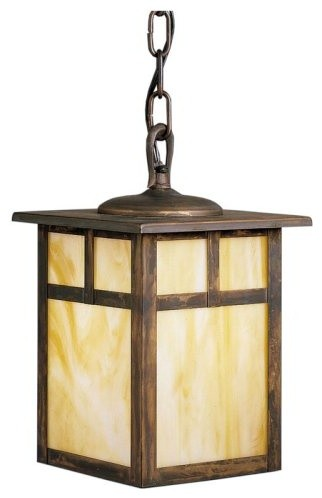 Kichler Alameda Outdoor Pendant Light - 11.5H in. Canyon View, ENERGY STAR contemporary outdoor lighting