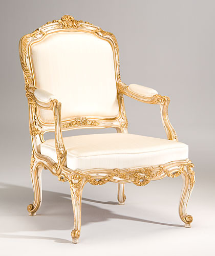 Louis XV Style Carved Beechwood Armchair Armchairs And