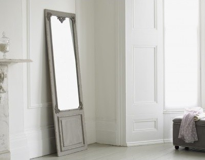 Full length mirror maison distressed hanging mirror in for Gray full length mirror