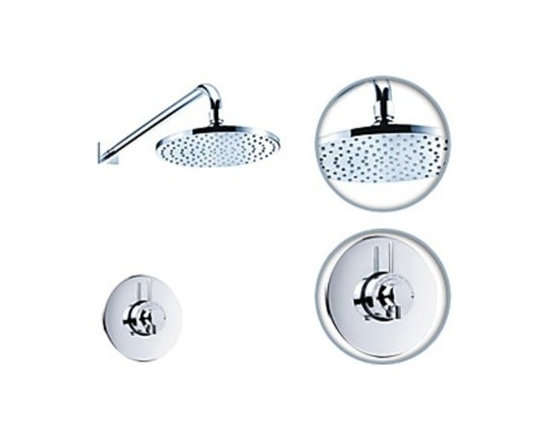 Shower Faucets - Chrome Thermostatic Bath Shower Faucet Set--FaucetSuperDeal.com