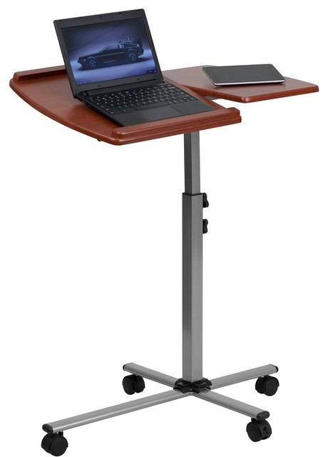 Angle And Height Adjustable Mobile Laptop Computer Table
