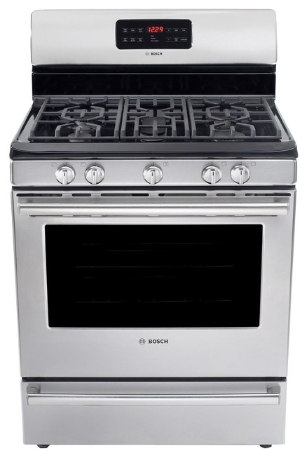 """Bosch Evolution Dlx 30"""" Gas Freestanding Range, Stainless Steel 