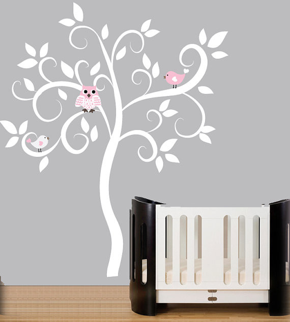 Swirl Tree Wall Decal By Couture Decals modern decals