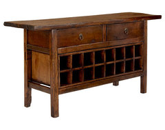 Vintage Chinese Wine Console Cabinet asian-wine-and-bar-cabinets
