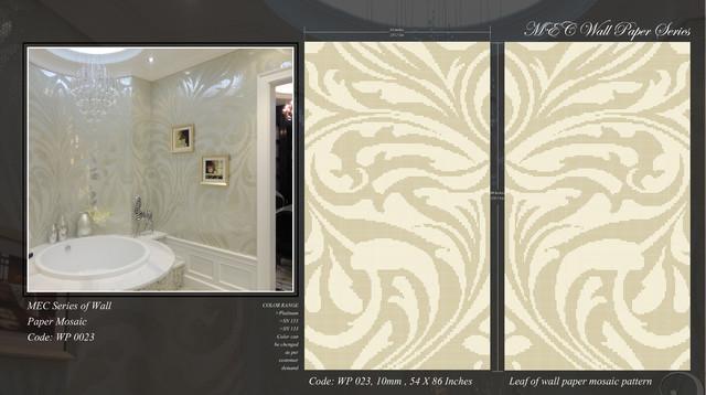 Marble Mosaic and Glass Mosaic Washrooms modern