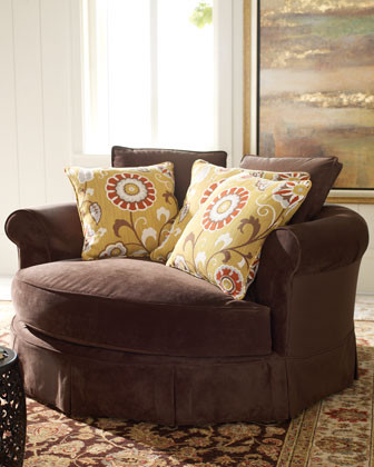 """""""Mason"""" Cuddle Chair traditional-armchairs-and-accent-chairs"""