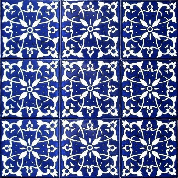 Hand Painted 4 X 4 Decorative Ceramic Tiles Mediterranean Tile Orlando By Ceramic