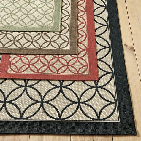 Laney indoor outdoor rug traditional doormats by for Ballard designs kitchen rugs