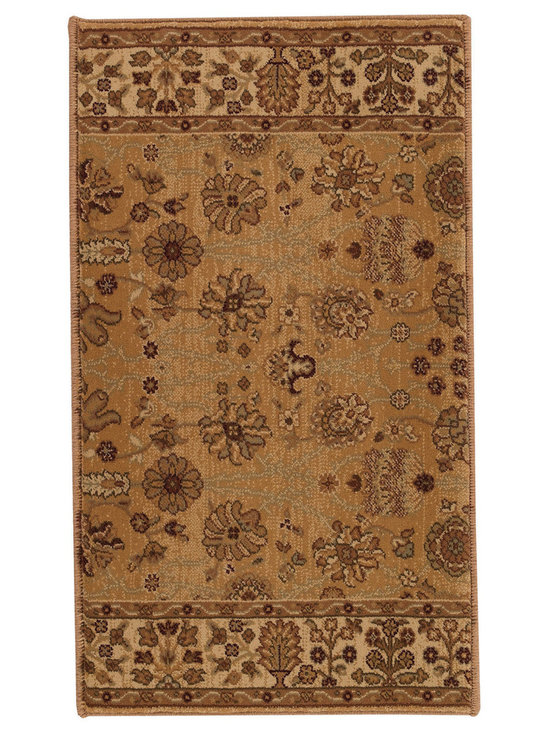 """Satin Topaz runner roll rug in Citrine - The crisp, traditional designs, fashion forward colorations and extra tight packed pile (1/2"""" thick) will wear like iron and give years and years of superior service."""
