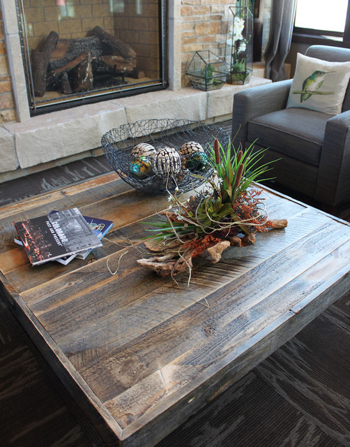 Reclaimed Wood Square Coffee Table Industrial Denver By Jw Atlas Wood Co