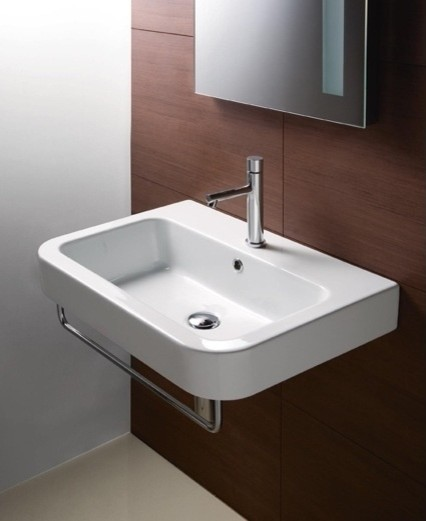 curved rectangular wall mounted bathroom sink by gsi