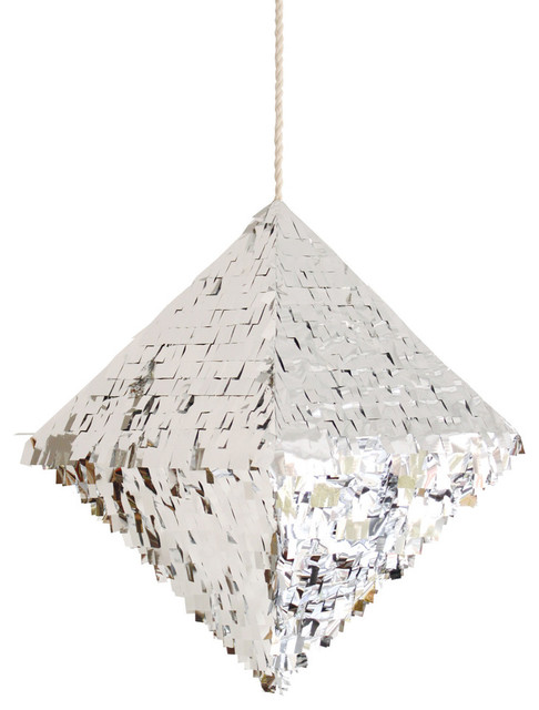 Quartz Pinata, Silver contemporary holiday decorations