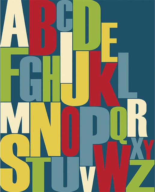 Modern Alphabet and Numbers Kids Wall Art by Parada Creations modern-kids-decor