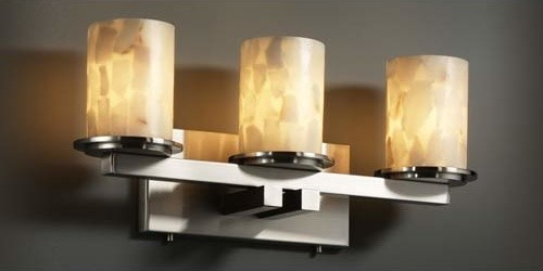 Alabaster Rocks! Dakota Three-Light Straight-Bar Bath Bar modern-bathroom-vanity-lighting