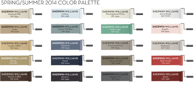 Sherwin-Williams Spring/Summer 2014 Color Palette contemporary