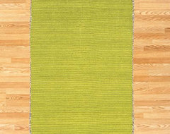Chenille & Jute Rug, Lime Green eclectic-rugs