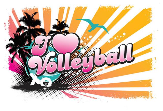 I Love Volleyball - Tropics Wall Art - Contemporary ... I Love Volleyball Wallpaper