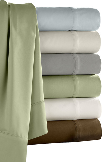 Camelot Bamboo Sham Set, Fern - Traditional - Pillowcases And Shams - by Luxor Linens