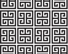 Greek Key Wallpaper, Black contemporary wallpaper