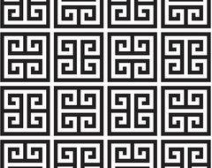 Greek Key Wallpaper, Black contemporary-wallpaper
