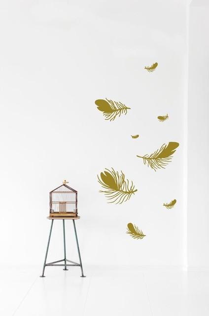 Ferm Living Feather WallSticker modern-kids-wall-decor
