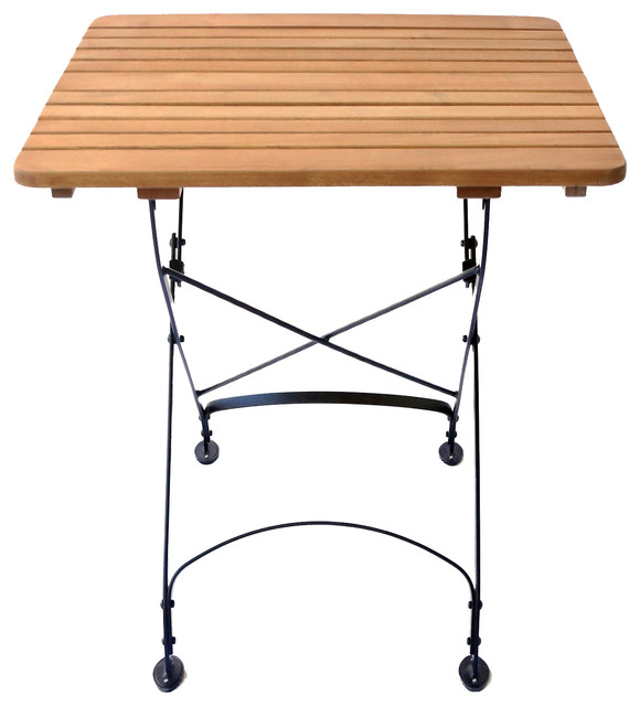 Haste Garden Rebecca Small Square Table - Solid Top contemporary-outdoor-dining-tables