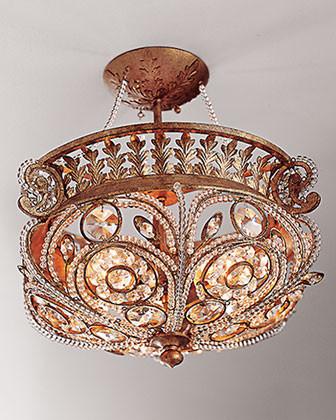 La Crystal Light Fixture traditional-ceiling-lighting