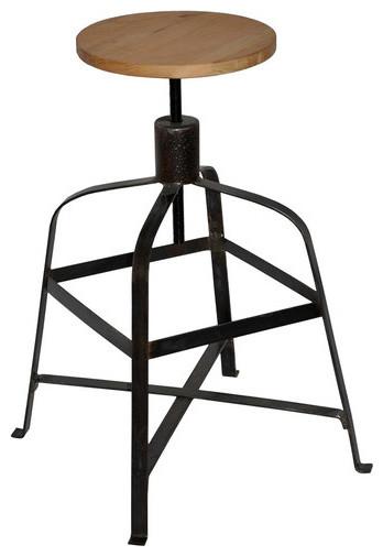Malakoff Stool with Wood Top modern-bar-stools-and-counter-stools