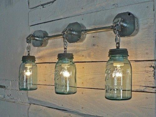 Mason Jar Outdoor Light