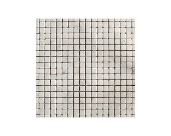 "1.5""x1.5"" Blanco Carrara Tumbled Natural Stone Mosaic -"
