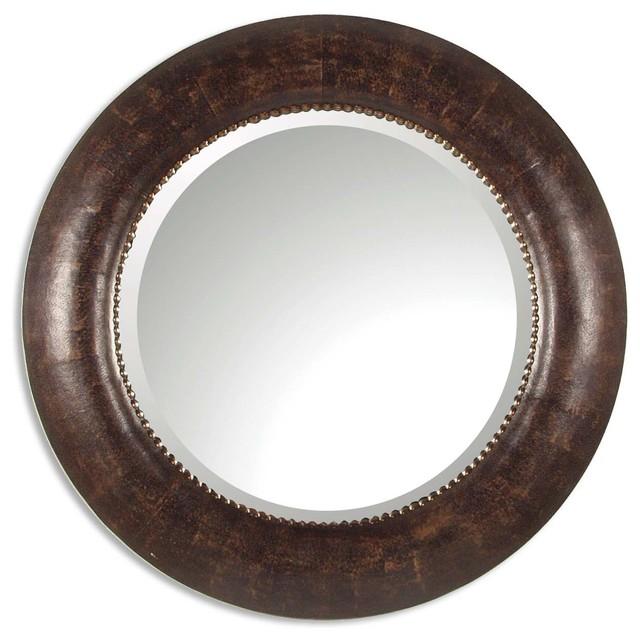 Leonzio Leather Mirror traditional-wall-mirrors
